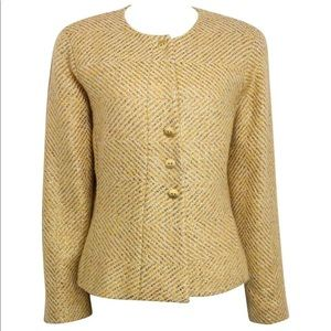 Chanel Gold tone Jacket with Scarf